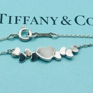 Retired Rare Tiffany Multi Hearts cluster necklace